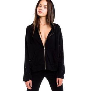 Wildfox glitz sleeve hoodie